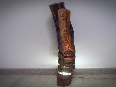 Luminária de tronco velho - Log lamp