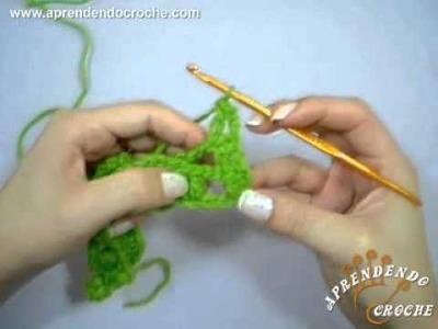 Ponto Escama ou Cascata Intercalado - Tipos de Pontos no Crochê