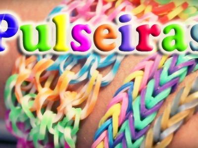 PULSEIRA DE ELÁSTICO, COMO FAZER - Rainbow Loom - Milena Stepanienco e Milenetes