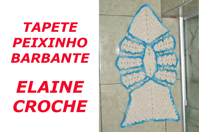 TAPETE PEIXINHO BARBANTE EM CROCHÊ