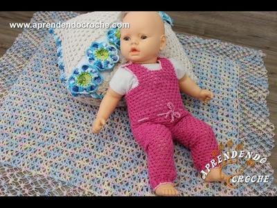 Conjunto Crochê Bebê a Bordo - Jardineira - Aprendendo Crochê
