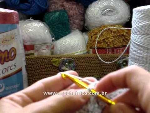 Crochê - Almofada Flor - 01.04