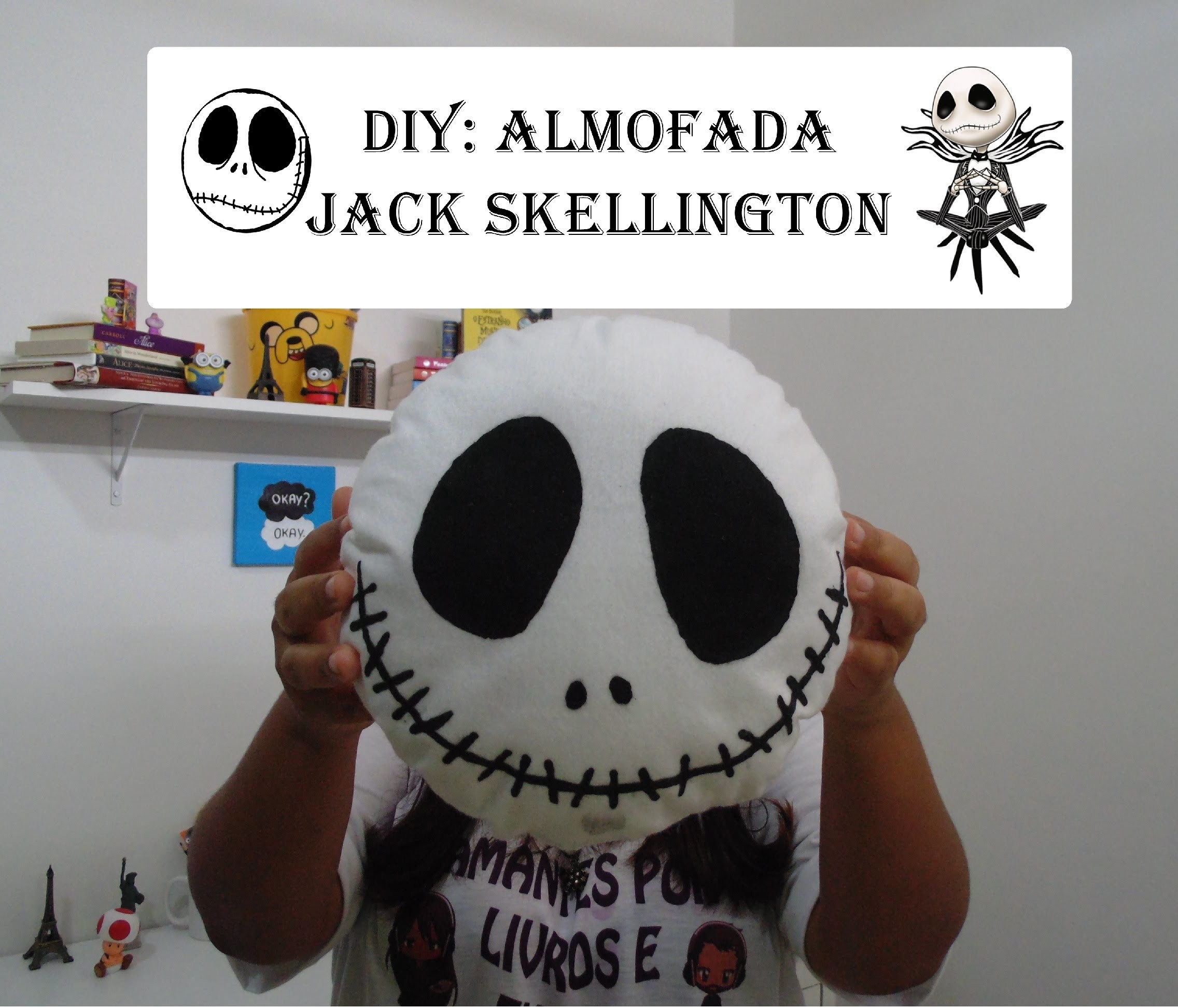 DIY Almofada do Jack skellington