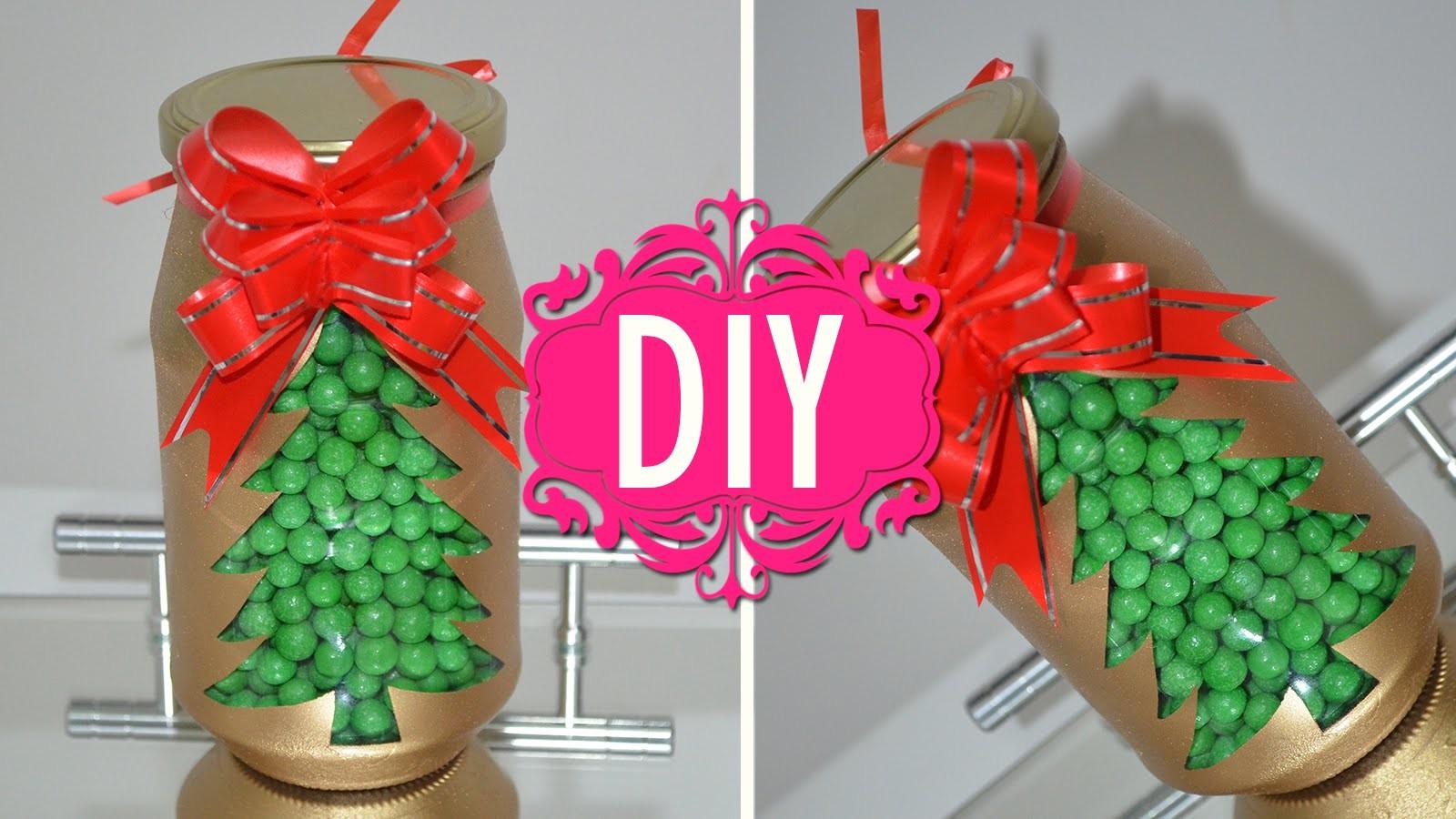 DIY Baleiro de Natal para Presente - Pote Castiçal