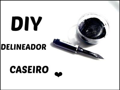 DIY. Delineador em Gel Caseiro. Cream Eyeliner Tutorial
