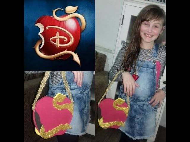 DIY Descendentes.Tutorial Bolsa Maça - Tutorial Descendants Apple purse