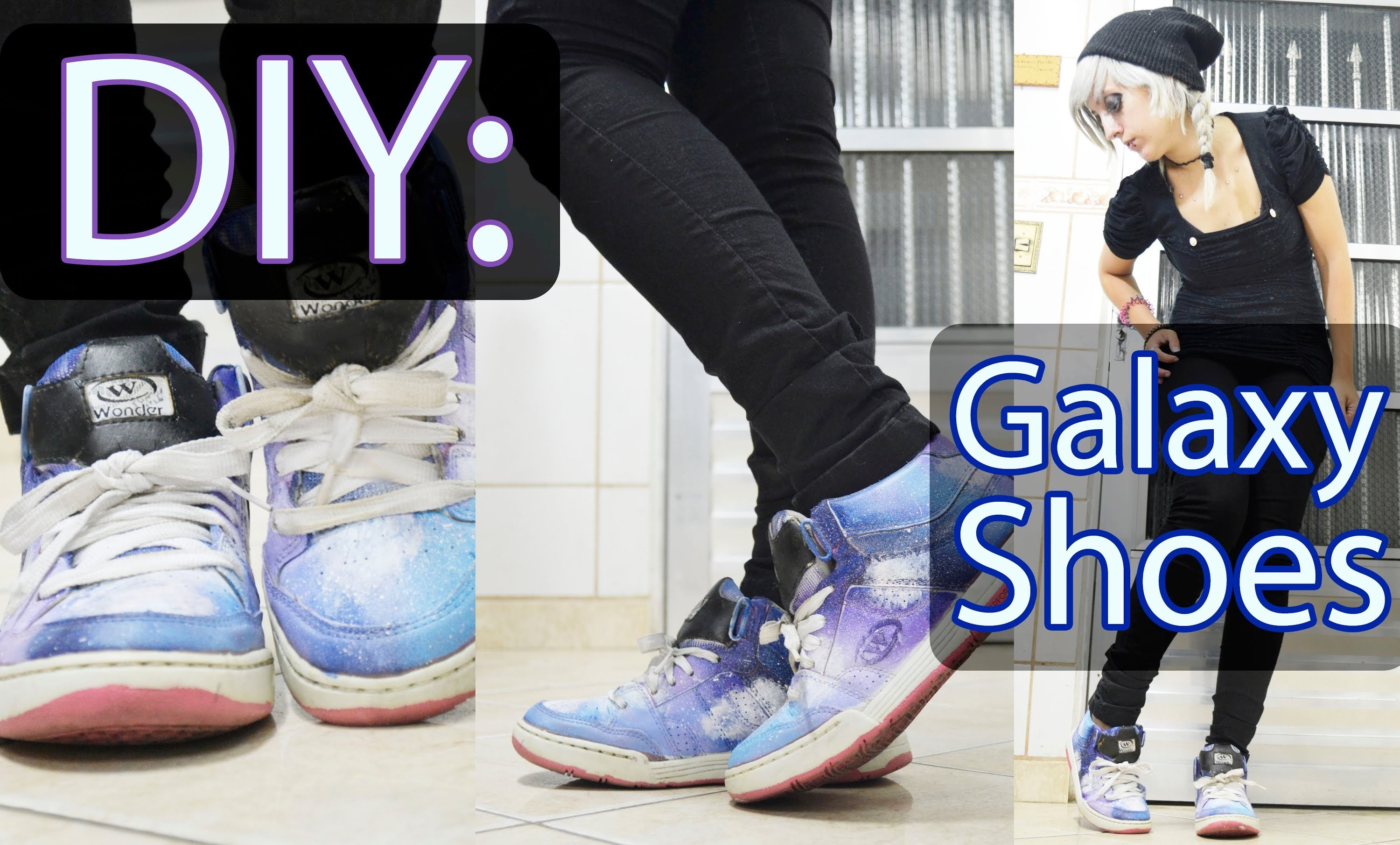 DIY: Galaxy Shoes (Tênis com Estampa de Galaxia)