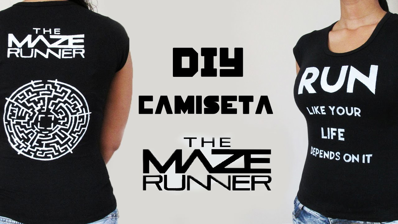 DIY: Pintando uma Camiseta Maze Runner (T-shirt Maze Runner Tutorial)