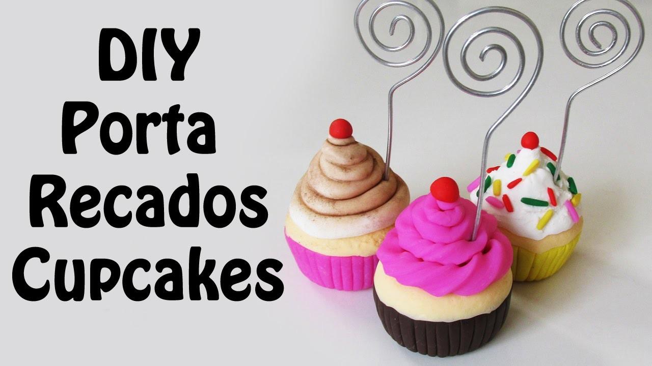 DIY: Porta Recados CUPCAKES DECORATIVOS em Biscuit (polymer clay tutorial. No mold)