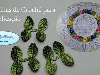 Folhas de Crochê para Aplicação no Centro de Mesa Floral - Aula 01
