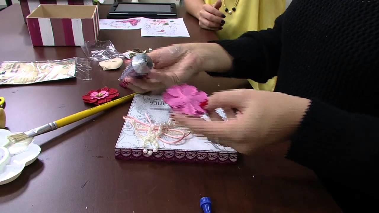 Mulher.com 05.09.2014 - Caixa com Transparência por Marisa Magalhães - Parte 2
