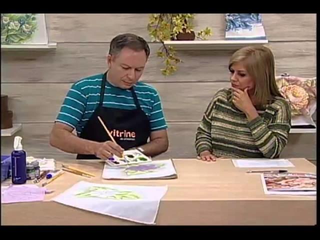 Pintura em tecido com Luis Moreira - Vitrine do Artesanato na TV