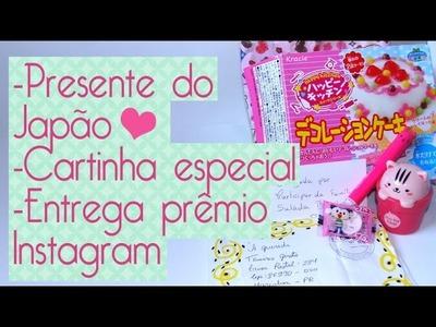 Presente Japão+ Cartinha Especial+ Entrega prêmio Sorteio- Scrapbook by Tamy