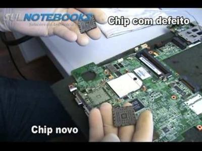 Troca de BGA GForce com defeito do HP TX1000 - Sul Notebooks - BGA Replace and Repair