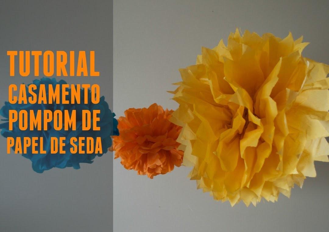 Tutorial pompom de seda :: DIY paper flowers