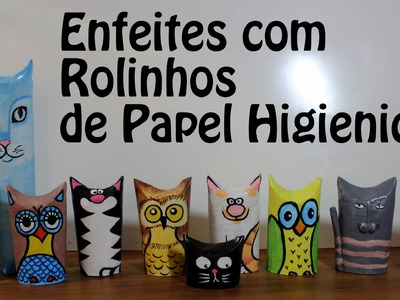 10 Ideias de enfeites com rolos de papel higiênico - DIY Toilet Paper Rolls Ornaments