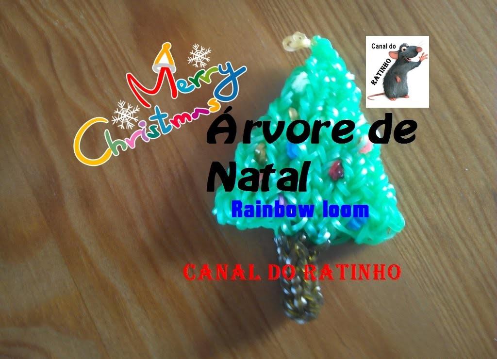 Árvore de Natal (Rainbow loom)