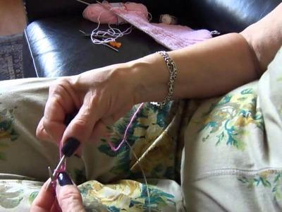 Boina de tricô enviesado Parte 1
