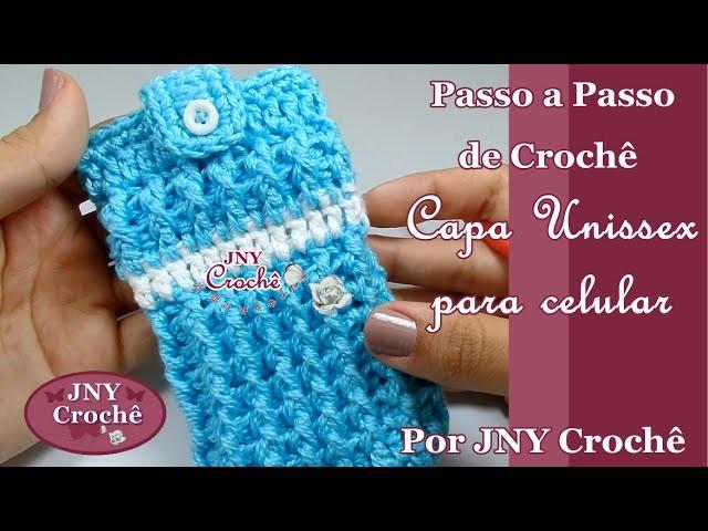 Capa ou case de crochê para celular Unissex por JNY Crochê
