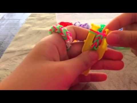 Como fazer anel de Rainbow Loom