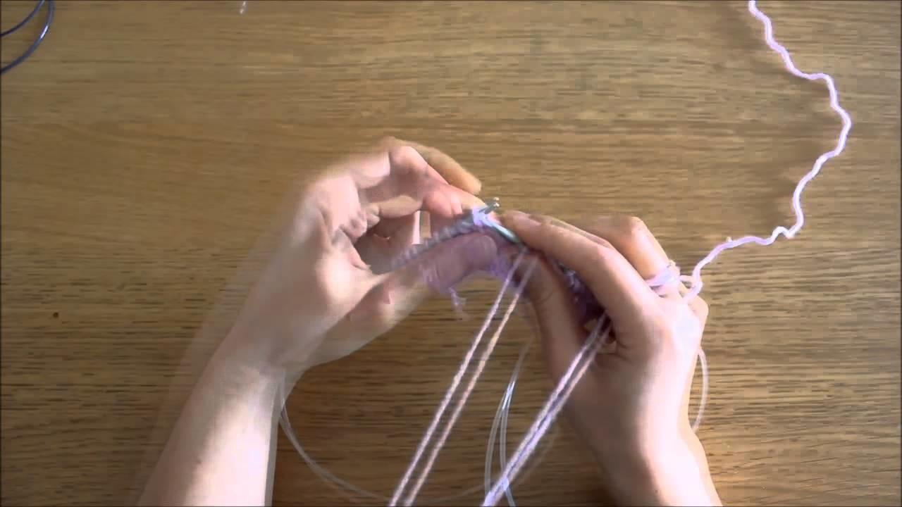 """Curso trico - Querido Tricot: diminuição """"passar, passar, tricotar meia"""" (ssk)"""