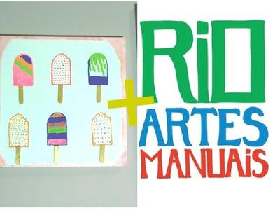 DIY: QUADRO 3D + RIO ARTES MANUAIS (vem me encontrar!)