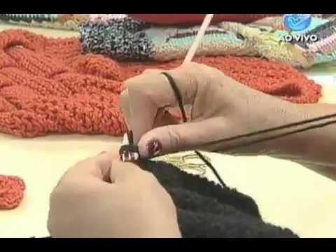 Manhã Viva - Artesanato: Sapato de tricô para o inverno - 04.06.12 - Parte 1