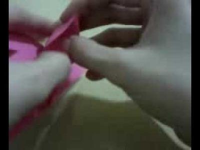 Marca páginas de coração - origami