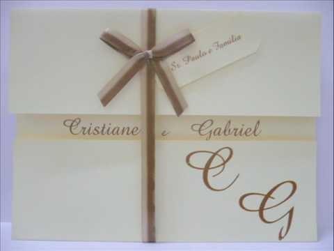Modelos de Convites Artesanais - Casamento - 15 Anos - Lembranças