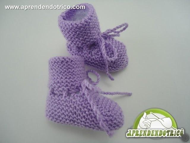 Sapatinho Bebê Trico Anjinho - 3º Parte - Aprendendo Tricô Manual