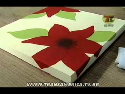 Tv Transamérica - Pintura artística em madeira