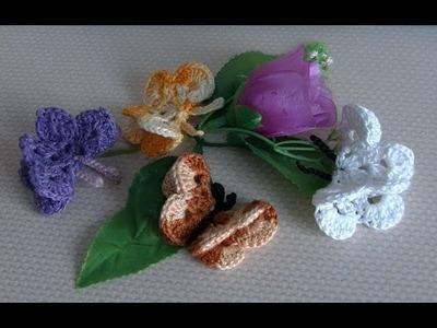Borboleta Crochet Part-1 -Crochet butterfly Part-1