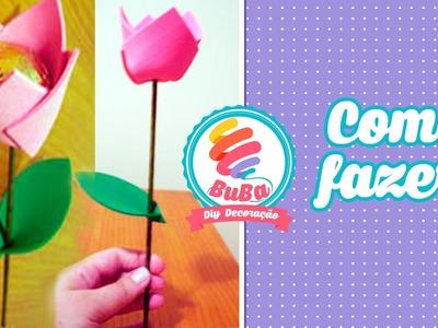 Como Fazer Flor de EVA Porta BomBom -DIY flower door candy