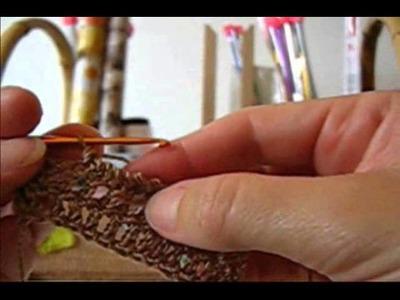 Crochê para Canhotas - Guia de Pontos - Ponto Caranguejo