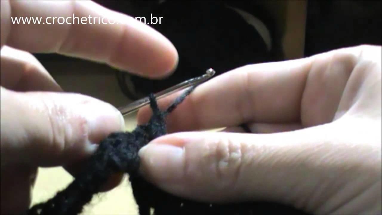 Crochê para Canhotas - Touca Ninja (Touca de Motoqueiro) - Parte 04.06