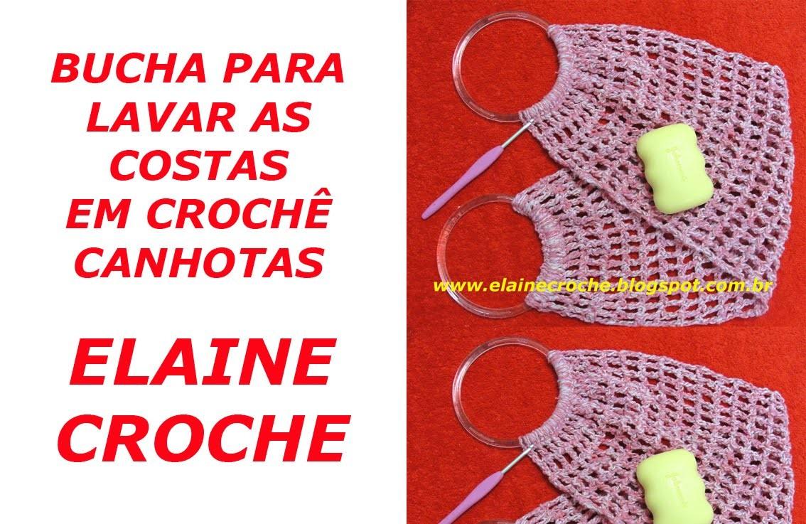 CROCHE PARA CANHOTOS - LEFT HANDED CROCHET - BUCHA PARA LAVAR AS COSTAS CROCHÊ CANHOTAS