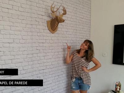 DIY: Como colocar papel de parede de tijolos - simples e rápido