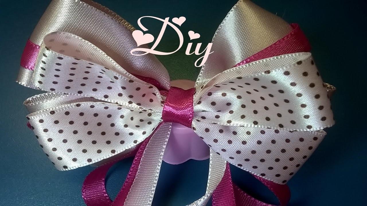 Laço de fita de cetim \ Satin ribbon bow Diy