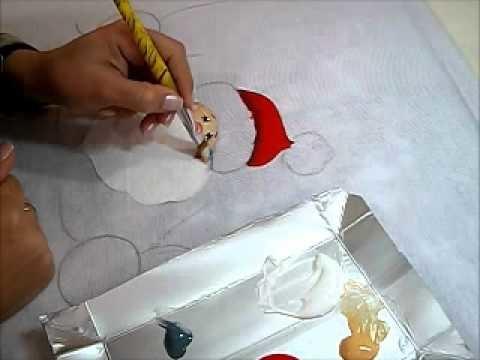 Pintura em Tecido - NOEL COUNTRY - How to paint Christmas