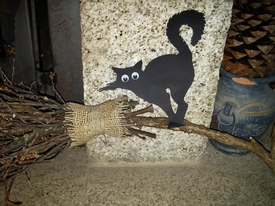Como fazer vassoura de bruxa - DIY - How to make a witch's broom