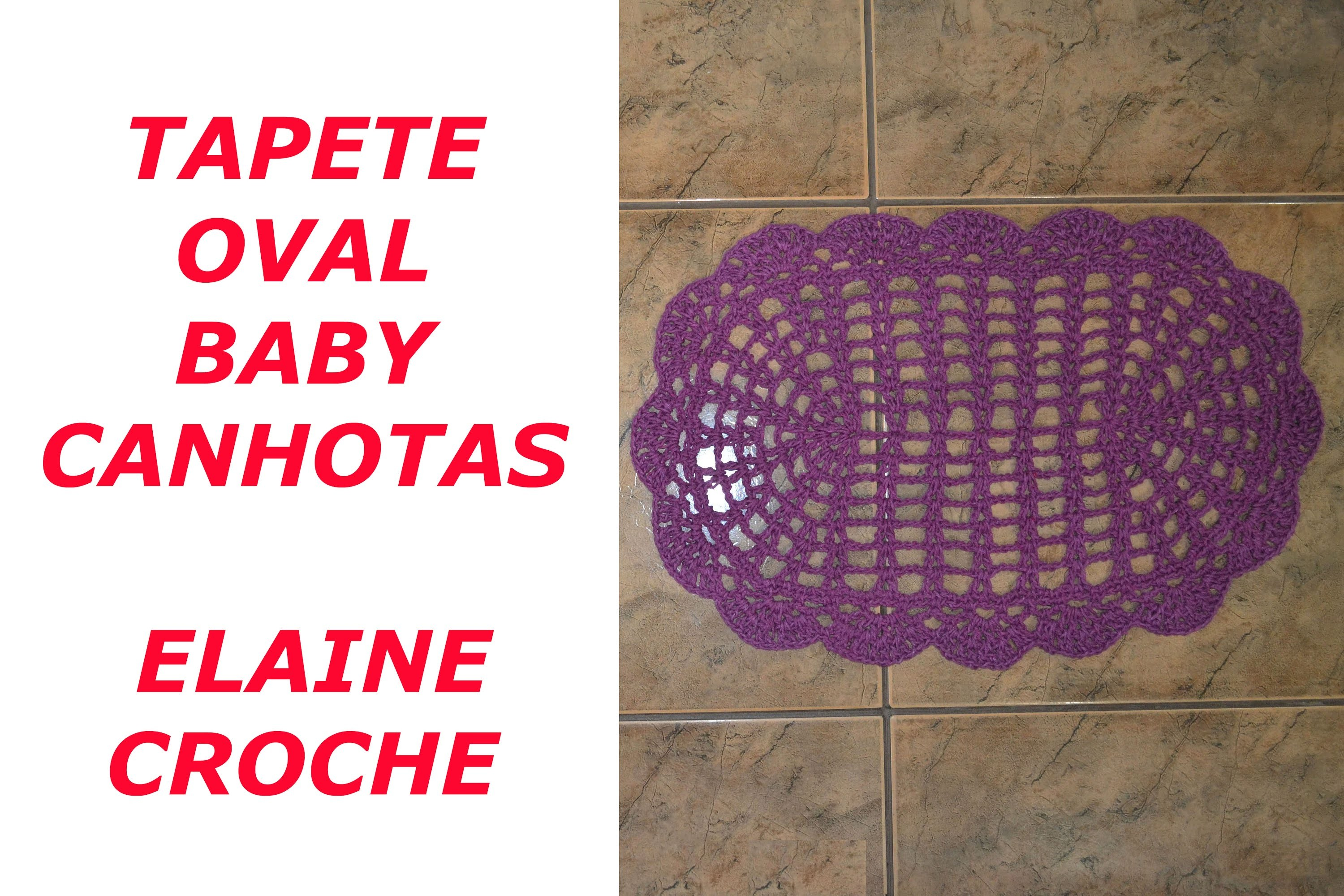 CROCHE PARA CANHOTOS - LEFT HANDED CROCHET - TAPETE OVAL BABY CROCHE CANHOTAS