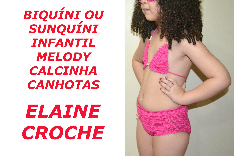 CROCHE PARA CANHOTOS - LEFT HANDED CROCHET - BIQUÍNI INFANTIL MELODY CROCHÊ CALCINHA - CANHOTAS