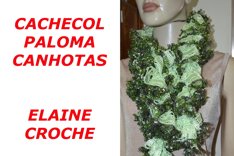 CROCHE PARA CANHOTOS - LEFT HANDED CROCHET - CACHECOL FIO PALOMA EM CROCHE CANHOTAS