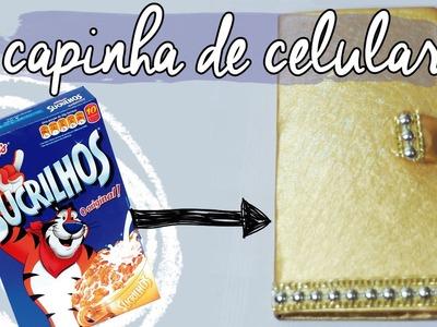 DIY :: Capinha de Celular com caixa de cereal | Projeto DIY