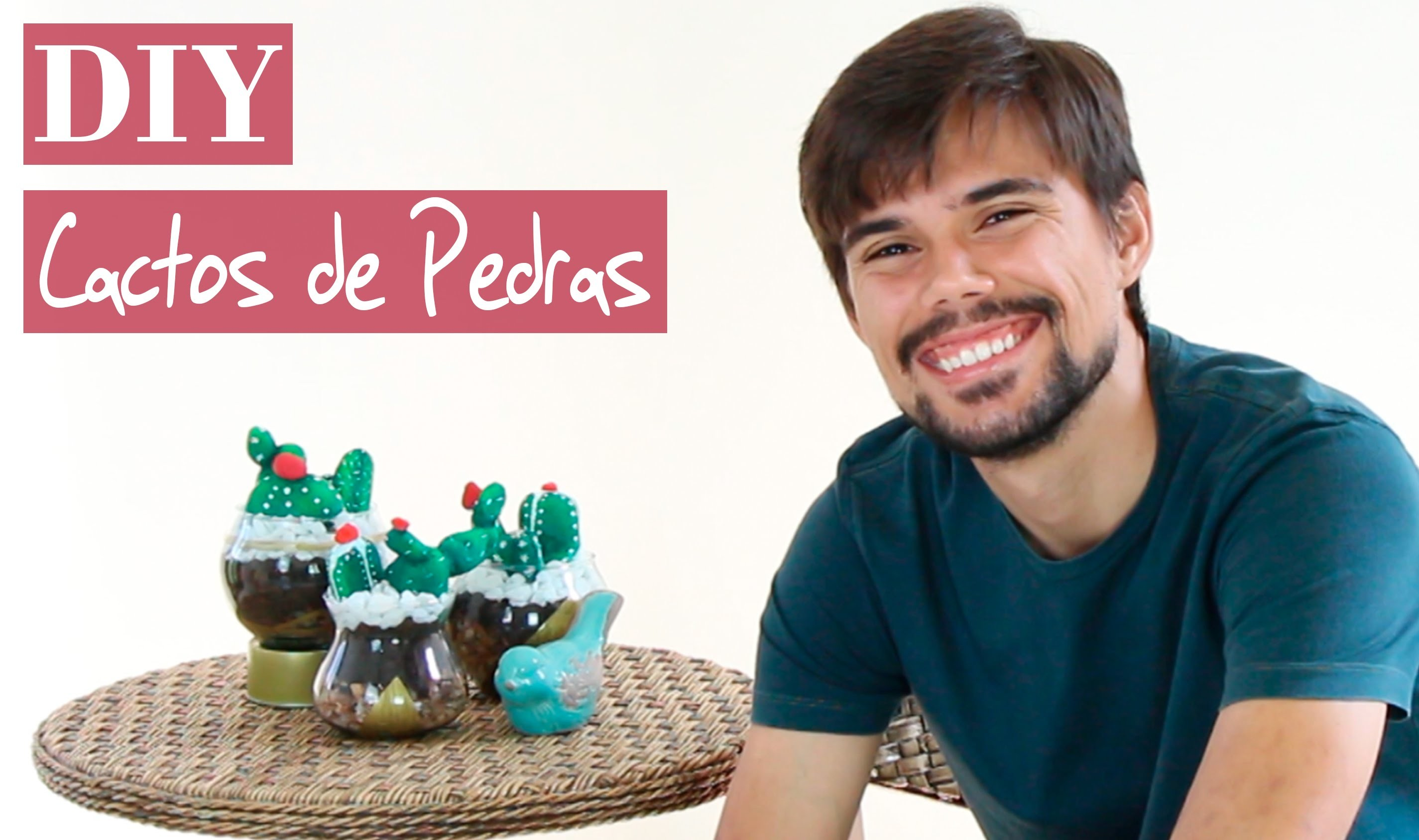 DIY | Como fazer Cactos de Pedras | Tutorial | How to do stone cactus =)