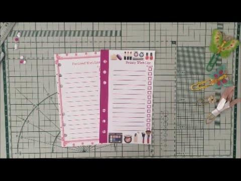 DIY. Faça você mesmo - Tutorial listas estilizadas para sua planner - Parte 2