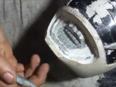 How do you make a POWER RANGER helmet - DIY - part 12