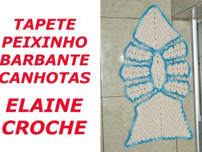 CROCHE PARA CANHOTOS - LEFT HANDED CROCHET - TAPETE PEIXINHO BARBANTE EM CROCHÊ CANHOTAS