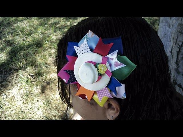 Arranjo com chapéu de tampa de garrafa pet | DIY - PAP