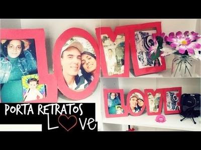 DIY: Como fazer  LOVE porta retratos ♥ Decoração para o quarto